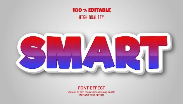 Slim teksteffect bewerkbaar lettertype