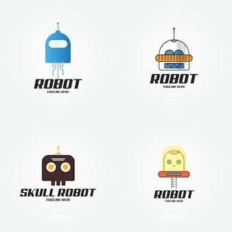 Slim toekomstig logo van de technologierobot