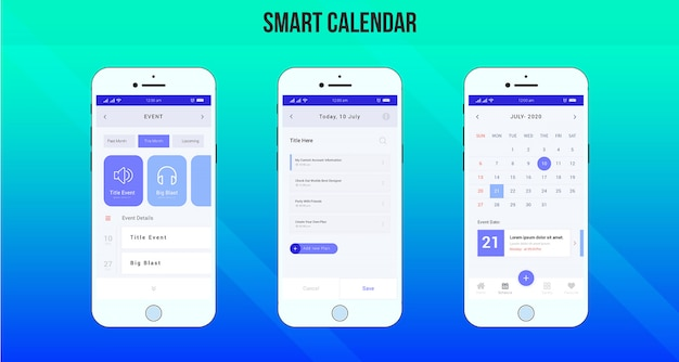Slimme agenda-app ui / ux-ontwerp