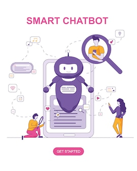 Slimme chatbot voor mensen in een gesprek, zoeken