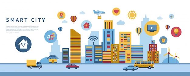 Slimme city-technologie elementenverzameling