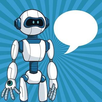 Slimme de bellentoespraak van de robot futuristische technologie