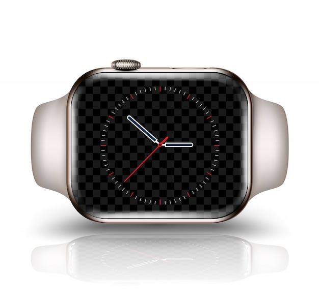Slimme horloge mockup realistische vectorillustratie voor technologie-element