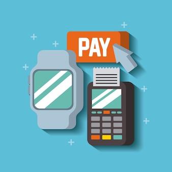 Slimme horloge verbinden met digitale datafoon betaling online online