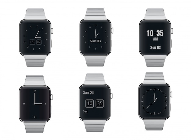 Slimme horloges vormen ontwerpset
