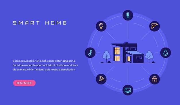 Slimme huis concept banner