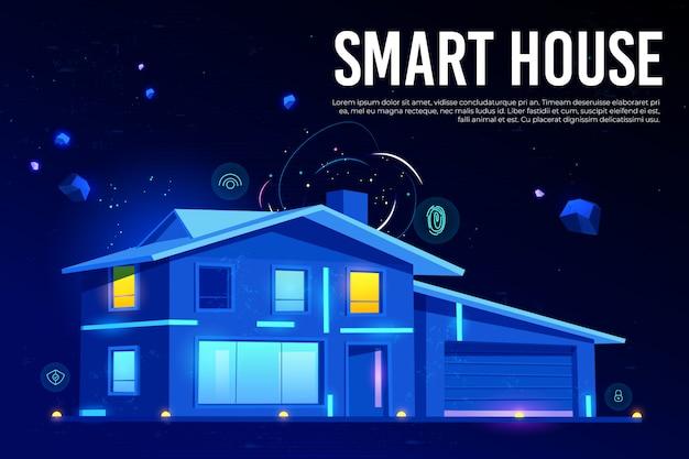 Slimme huis en kunstmatige intelligentie technologie