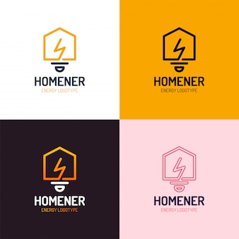 Slimme huis logo vector set