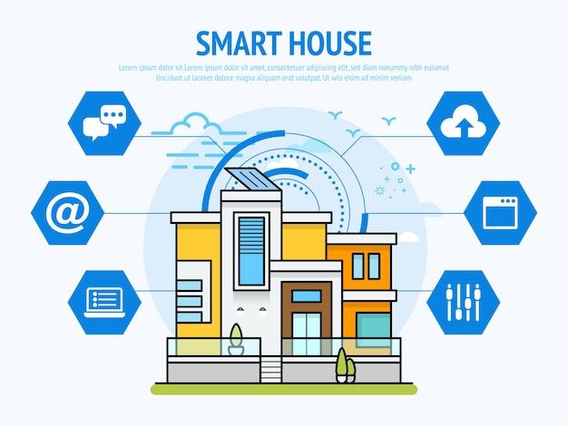 Slimme huistechnologie van domotica-concept