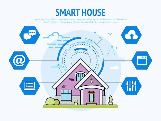 Slimme huistechnologie van domotica-concept.