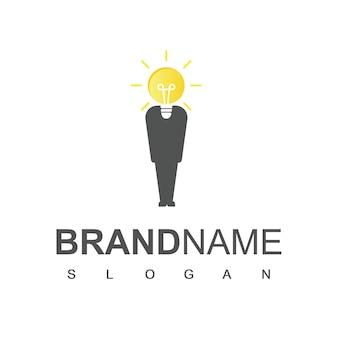 Slimme mensen logo ontwerp vector