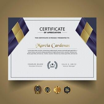 Slimme nieuwe certificaatdiplomasjabloon