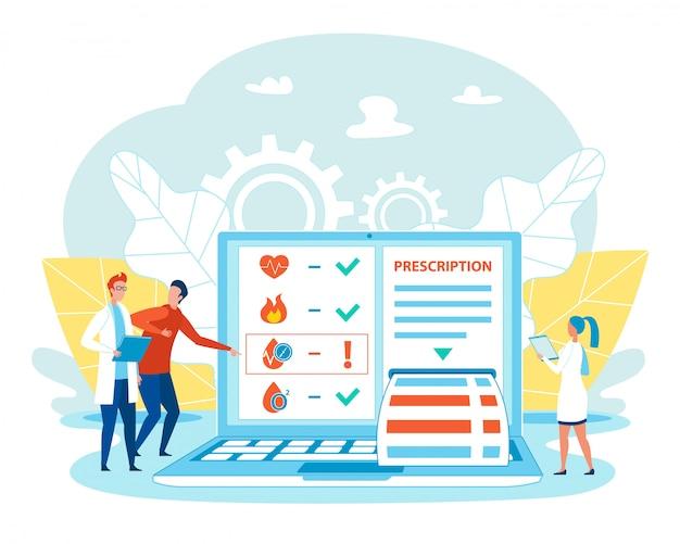 Slimme online geneeskunde en medische behandeling op afstand