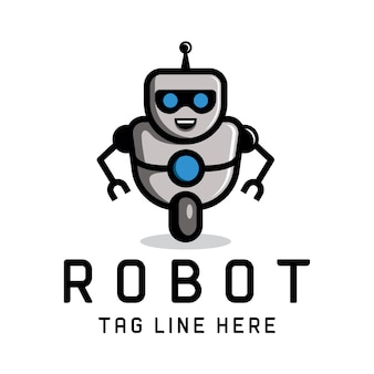 Slimme robot logo sjabloon