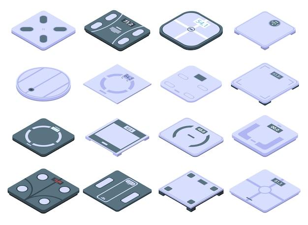 Slimme schalen iconen set