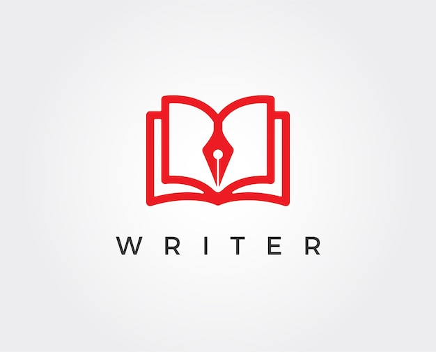 Slimme schrijver vector logo sjabloon