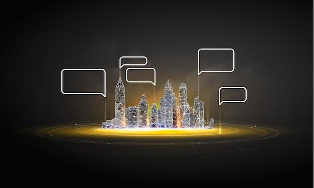 Slimme stad of intelligent gebouw.