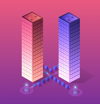 Slimme stad van ultraviolet