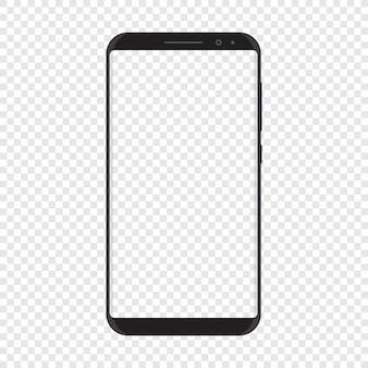 Slimme telefoon met transparante achtergrond
