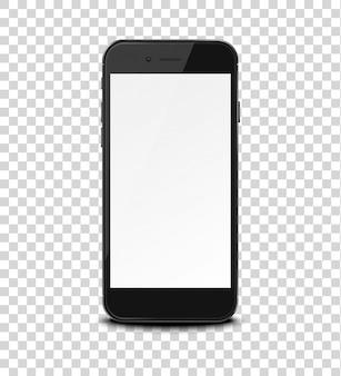 Slimme telefoon op transparant.