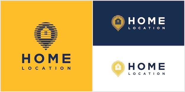 Slimme thuislocatie logo-ontwerp