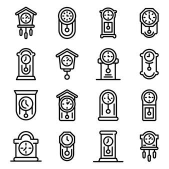 Slinger klok pictogrammen instellen