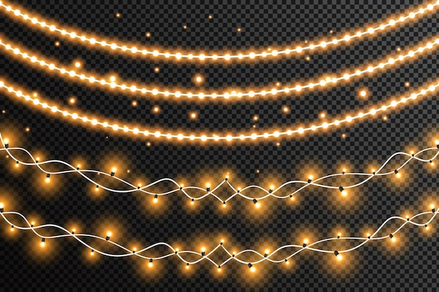Slingers kerstversiering lichteffecten
