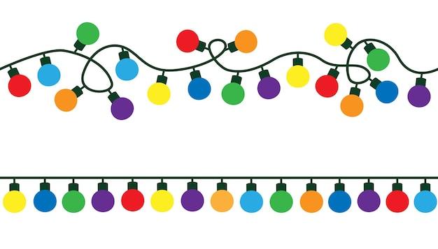 Slingers kerstversiering lichten kleureffecten gloeiende lichten voor kerstvakantie