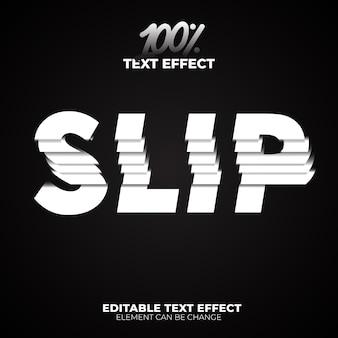 Slip-teksteffect