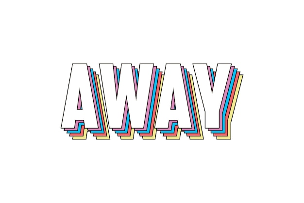 Slogan away phrase graphic print fashion belettering kalligrafie