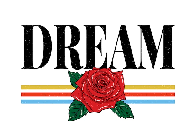 Slogan dream zin grafische print fashion typografie
