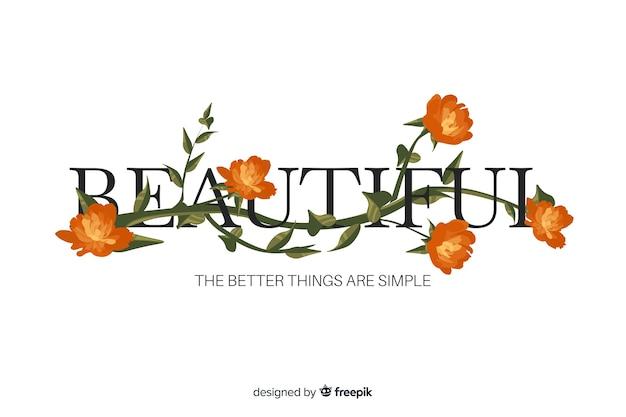 Slogan met bloemen