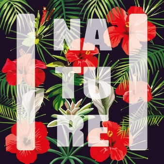 Slogan natuur bloemen laat donker