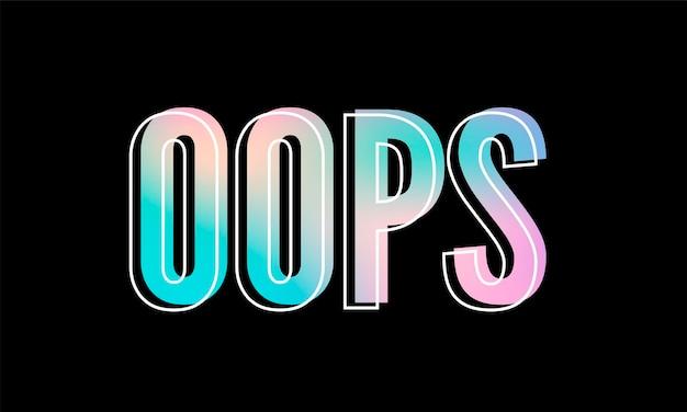 Slogan oeps zin grafische vector luipaard print fashion belettering