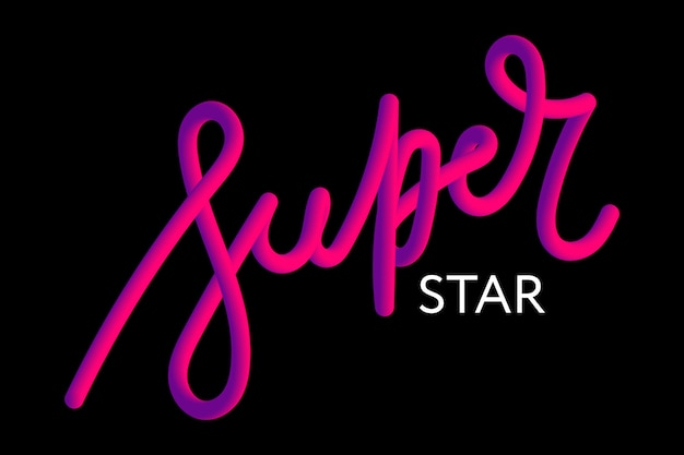 Slogan superstar zin grafische vector print fashion belettering kalligrafie