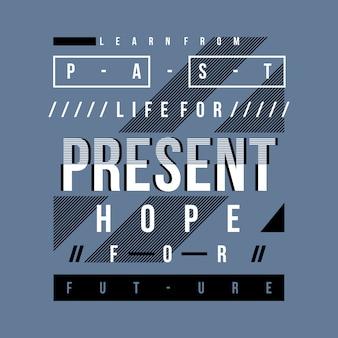 Slogan typografie t-shirt ontwerp