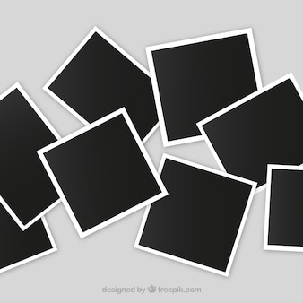 Slordige fotolijst collage