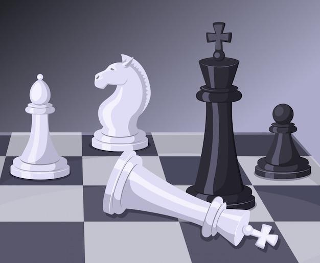 Slot van het schaakspel.