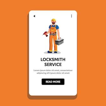 Slotenmaker service workman holding tool