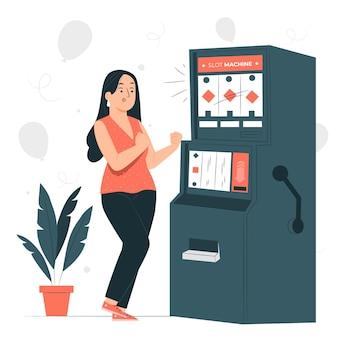 Slotmachine concept illustratie