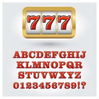 Slotmachine stijl alfabet