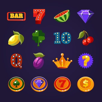 Slotmachine symbolen set