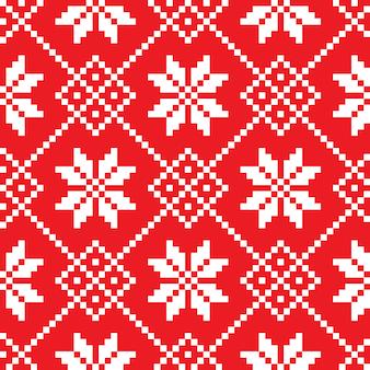 Sloveens traditioneel patroonornament. naadloze achtergrond
