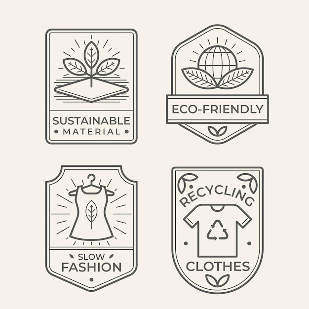 Slow fashion badge-collectie