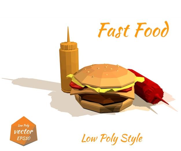 Smakelijk hamburger en de sauzen