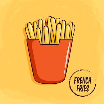 Smakelijke frieten clip-art
