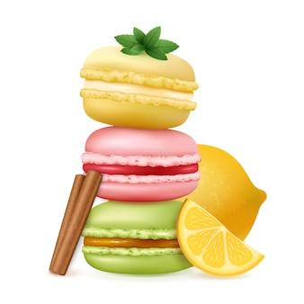 Smakelijke ratafee gebak compositie