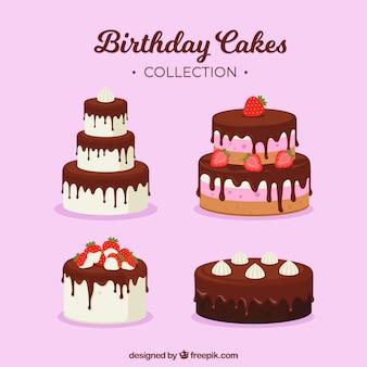 Smakelijke verjaardagstaarten