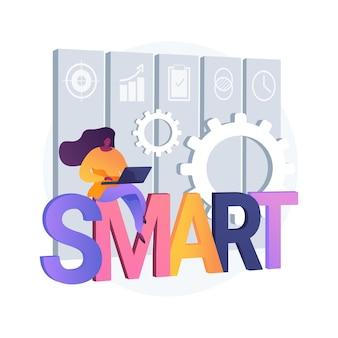 Smart doelstellingen abstracte concept illustratie
