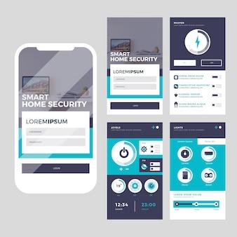 Smart home app-concept